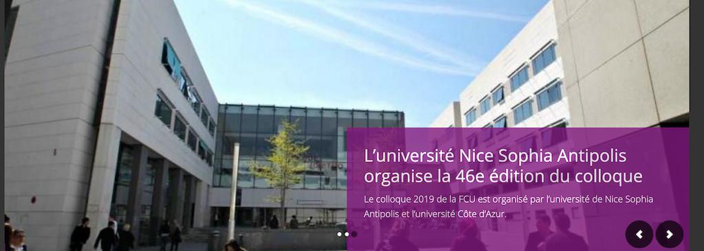 46ème édition du colloque FCU du 26 au 28 juin 2019